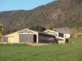 Batiment agricole bois stabulation vaches