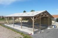 Hangar agricole bois de stockage