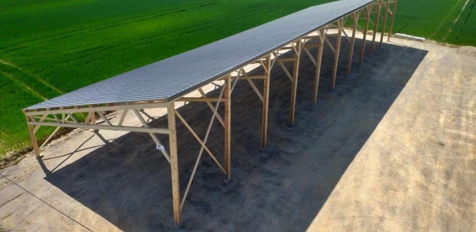 stockage charpente bois panneaux photovoltaïques