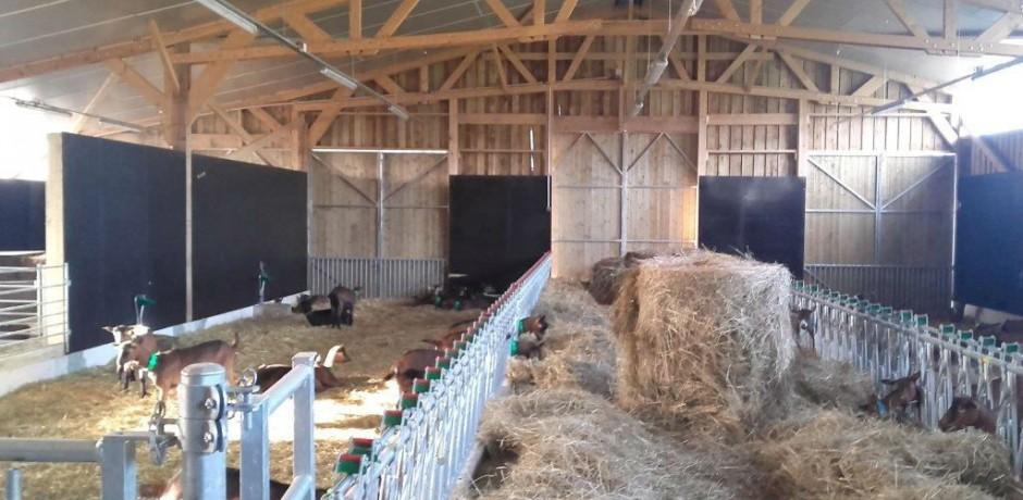 chèvrerie bois intérieur aménagement