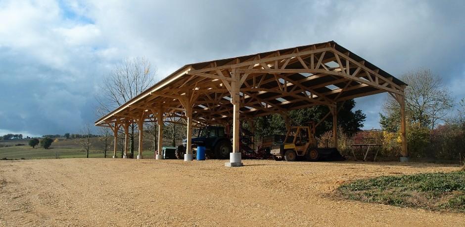 bâtiment stockage bois