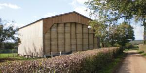 batiment agricole bois stockage paille